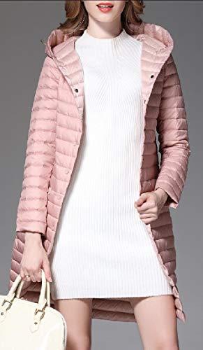 Package Ultra Light Jacket Down Pink Coat Women's Weight EKU Hooded gwO44q