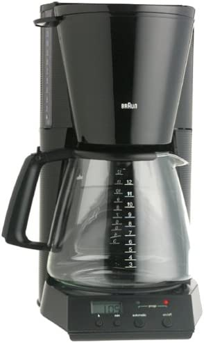 Braun KF180-BLK FlavorSelect 12-Cup Coffeemaker, Black