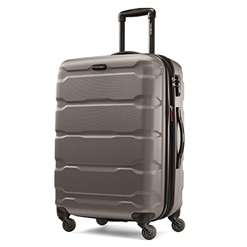 strong Samsonite Omni PC Hardside Luggage, Silver, Checked-Medium