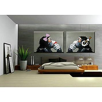 Pi Handgemalte Wand Monkey Wohnzimmer Schmuck Olmalerei Auf Leinwand