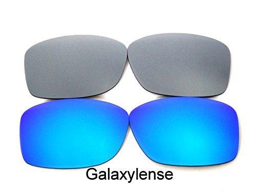 Lentes De Repuesto Para Oakley Jupiter Squared azul y titanio Polarizados 2 Pares -