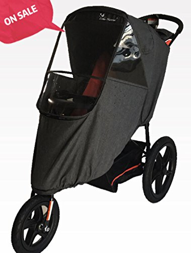 Esther Natural Dacron Stroller Weather Shield Made Of Water-proof With Zipper And Optical Window On Three Sides Screen With Free and Quick Shipping (Linen Grey) by Esther Natural