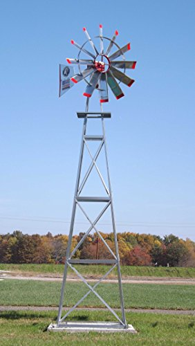DOUBLE PUMPER: AMERICAN EAGLE WINDMILL (18') POND AERATION WINDMILL AERATOR