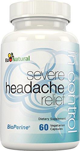 In Control Headache & Migraine Relief - Fight Severe Pain, Nausea, and Sensitivity - Butterbur & Feverfew - 60 Vegetarian Soft Capsules (Headache Cream compare prices)