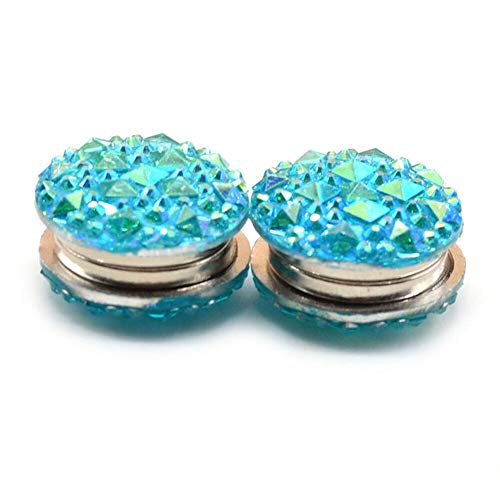 Angel3292 1Pair Muslim Round Magnet Brooch Pins Clasp Hijab Scarf Abaya Clothes Jewelry Gift by Angel3292 (Image #6)