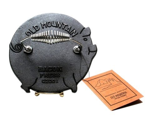 Iwgac Home Indoor Kitchen Old Mountain Cast Iron Pig Grill Press
