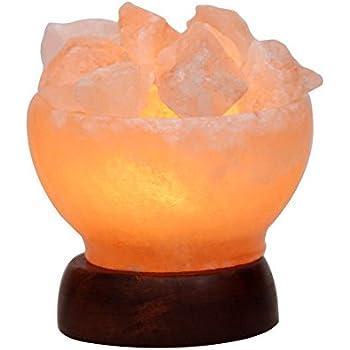 5inch 5 6lbs himalayan salt lamp fire bowl for Wbm 7 tall himalayan natural crystal salt lamp