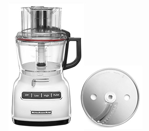 KitchenAid RKFP0930WH 9-Cup Food Processor with Exact Slice System (CERTIFIED REFURBISHED) White