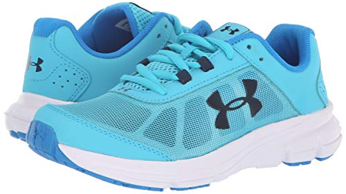 Under Armour Girls' Grade School Rave 2 Sneaker, Alpine (301)/Blue Circuit, 4 by Under Armour (Image #6)
