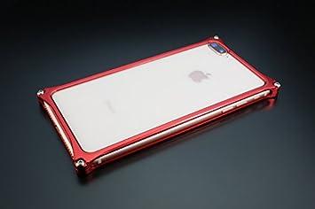 f984625bd ギルドデザイン iPhone 8Plus 7Plus用アルミ製バンパーケース レッド GI-412R