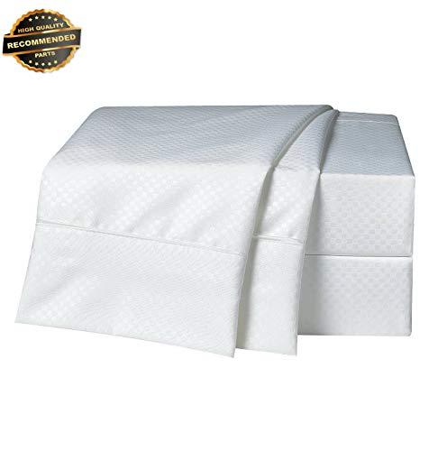(Gatton Premium New 1800 Count 4 Piece DEEP Pocket Bed Sheet Set - Checkered | Collection SHSCZ-18212207)