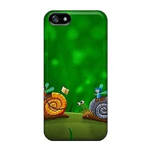 High Grade LatonyaSBlack Flexible Tpu Case For Iphone 5/5s - Snail Racing