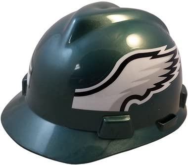 eb153fbc MSA NFL Team Safety Helmets with One-Touch Adjustable Suspension and Hard  Hat Tote - Philadelphia Eagles