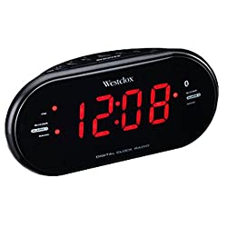 Westclox Bluetooth 1.2 LED Dual Clock Radio with USB Charge Port 81012BT