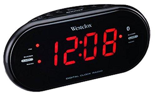 "Westclox Bluetooth 1.2"" LED Dual Clock Radio with USB Charge"