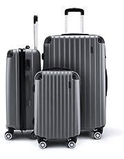 3Pc Luggage Suitcase Set-Orange with 3X Covers & TSA Lock