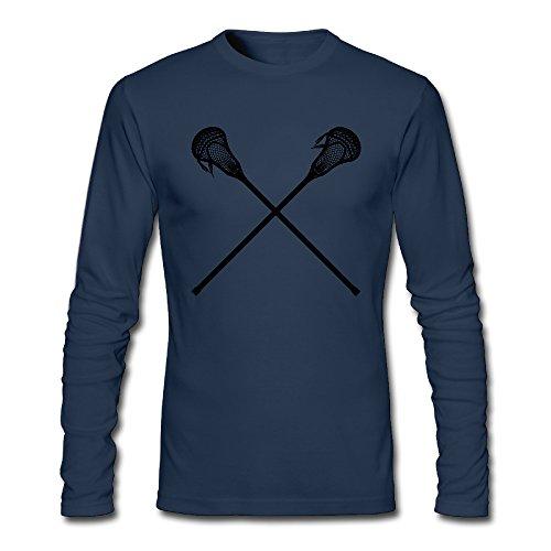 Men's Dernier cri Crossed Lacrosse Sticks Long-sleeve T Navy US Size S