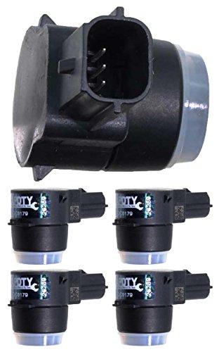 Assist Sensor - APDTY 15239247x4 PDC Sensor Park Assist Reverse Backup Object Sensor Pack Of 4 Fits Rear Bumper On Select 2006-2016 GM Vehicles (Replaces 15945176, 25962147; View Description For Specific Models)