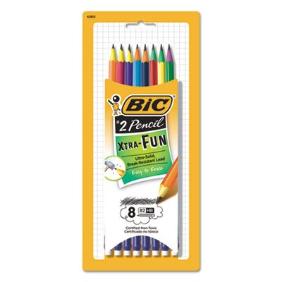 BIC Xtra-Fun Graphite Pencil, #2 HB, 8-Count
