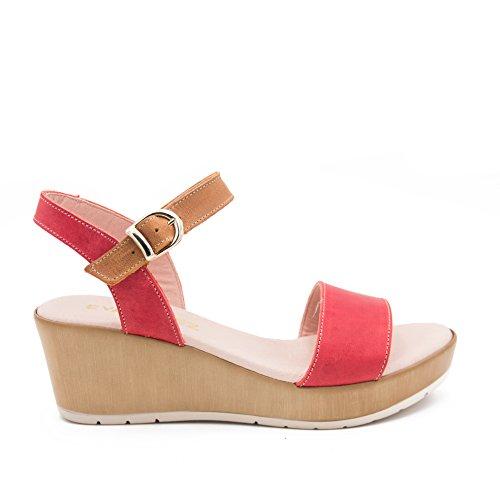 Eva López Women's Fashion Sandals Red dBgaziH