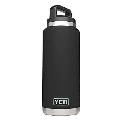 5caaae2d086 YETI Rambler 36oz Vacuum Insulated Stainless Steel Bottle with Cap (Stainless  Steel) (Black