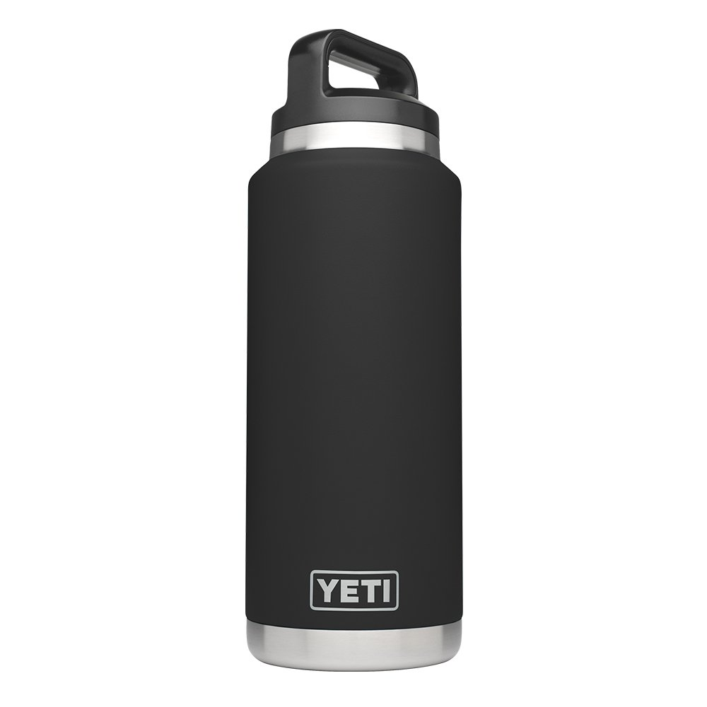 YETI Rambler 36oz Vacuum Insulated Stainless Steel Bottle with Cap (Stainless Steel) (Black)