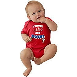 Philadelphia Phillies MLB Newborn Infant I Drool Bodysuit Creeper (0-6 Months)