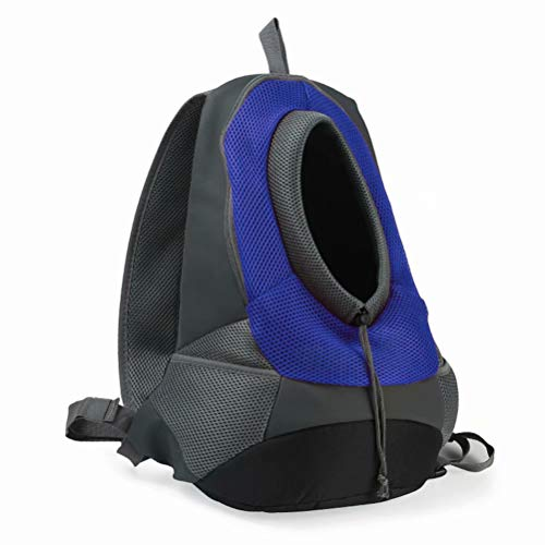 - JANKS Pet Backpack Carrier, Small Dog Cat Carrier Latest Style Comfortable Dog Cat Pet Carrier Backpack Travel Carrier Bag Front for Small Dogs Carrier Bike Hiking, Blue