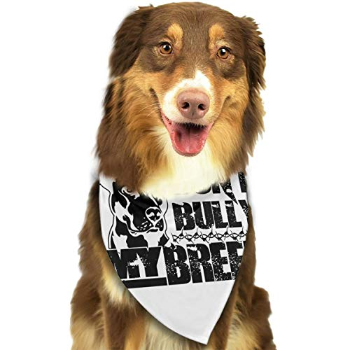 ASDA Don't Bully My Breed Floppy Dog Dog Bandanas Scarfs Accessories for Small to Dogs Cats -