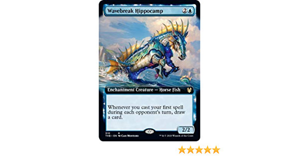 Magic the Gathering FOIL Theros Bynd Dth Wavebreak Hippocamp Extended Art
