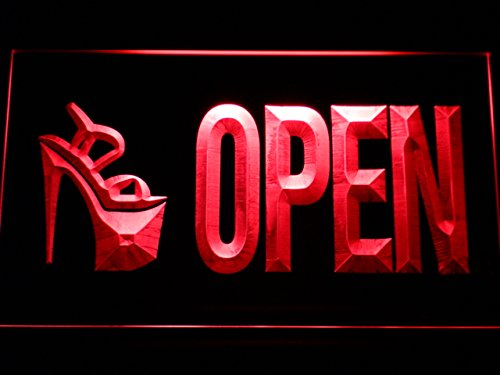 (High Heel Shoes Open Shop LED Sign Neon Light Sign Display m104-r(c))