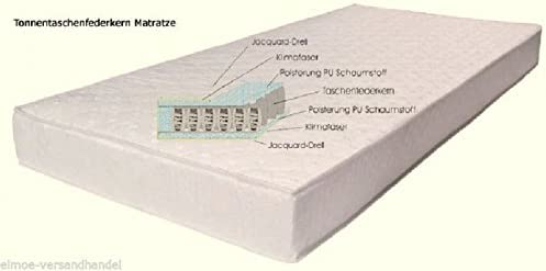 Tonnentaschenfederkern Matratze Ttfk Matratze 140 X 200 Cm Amazon De Kuche Haushalt