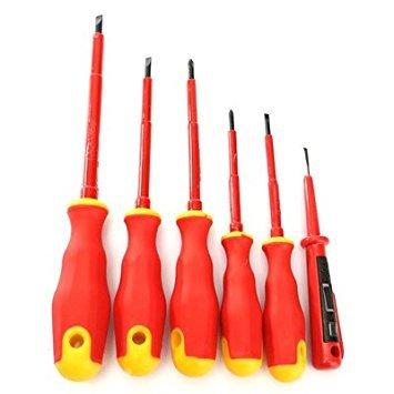 TOOGOO 6pcs Practical Electricans Screwdriver Set Elatrical