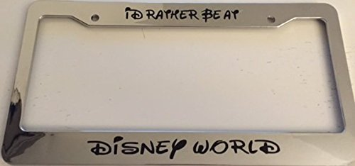 chrome license plate frame disney - 1