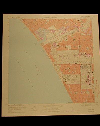 Venice Santa Monica Sausal Redondo LA airport California Pacific 1975 USGS chart (Redondo Air)