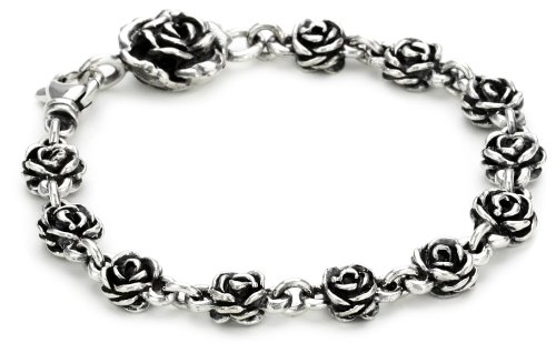 King Baby ''Rose'' Rose-Motif Chain Bracelet by King Baby