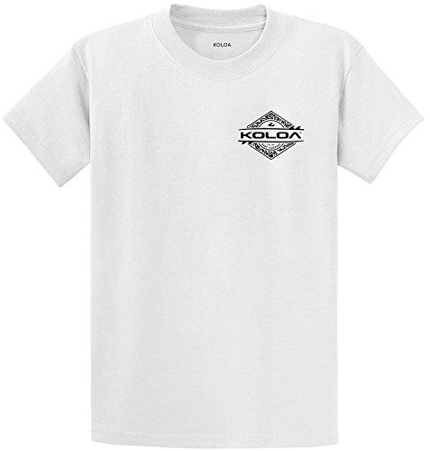 Koloa Surf Diamond Thruster Surfboards Heavyweight Cotton T-Shirt-White/b-XL
