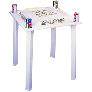 Domino table do it yourselfore bc classics plastic domino game table with tile racks drink holder solutioingenieria Image collections