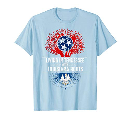 - Tennessee Home Louisiana Roots State Tree Flag Shirt Gift