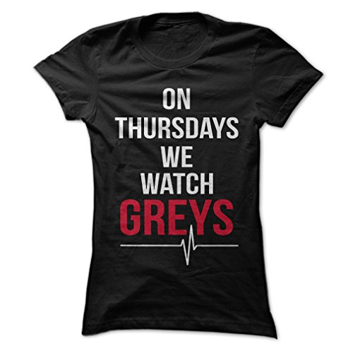 Gnarly Tees Women's On Thursdays We Watch Greys T-Shirt S Black