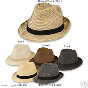 e70d3ecbab7a5 Men s Crushable Straw Fedora Trilby Hat