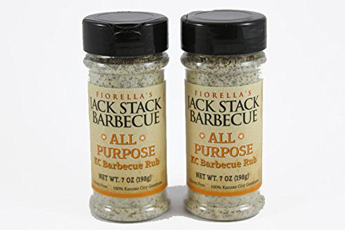 Fiorella's Jack Stack Barbecue All Purpose KC Barbecue Rub, 7 oz (Pack of 2)