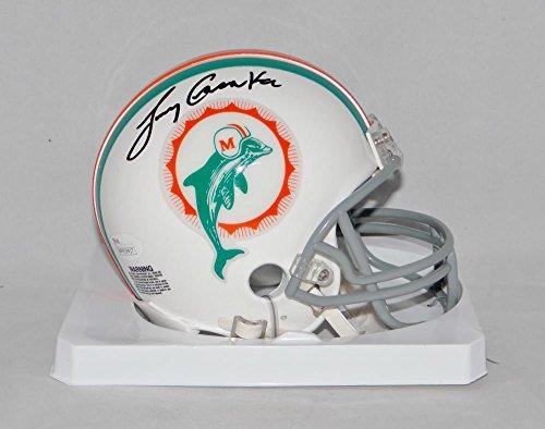 Authentic Tb Mini Helmet (Larry Csonka Autographed Miami Dolphins TB Mini Helmet- JSA Witnessed Auth)
