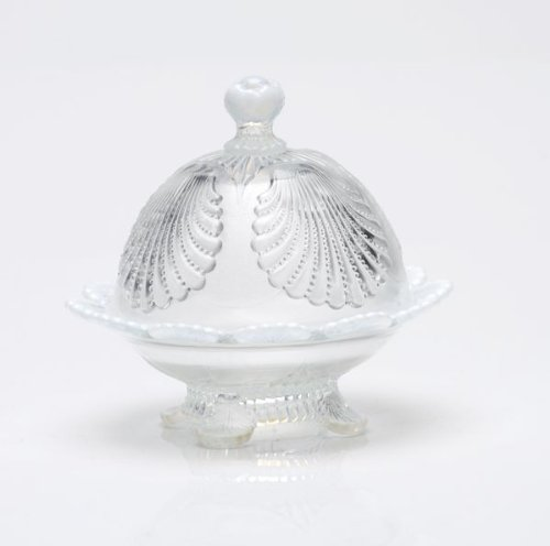 Crystal Shell Dish (Mosser Glass Shell Opal Butter Dish with Lid in Crystal)