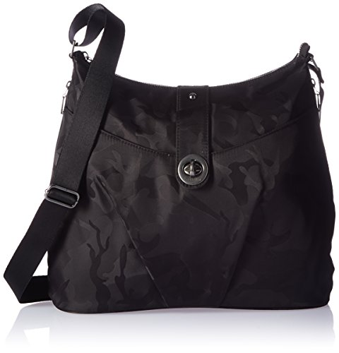 Baggallini HEL868 Women's Helsinki Shoulder Bag, Black Camo by Baggallini (Image #1)