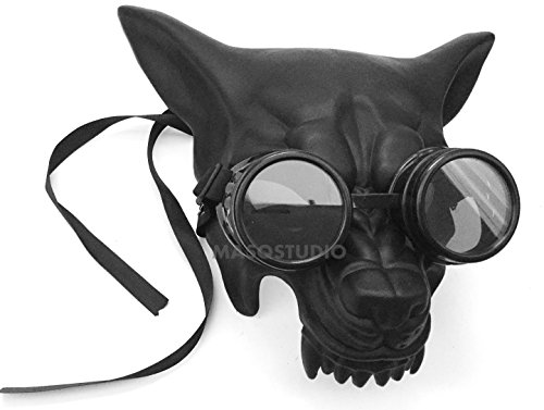 MasqStudio Black Wolf Mask Masquerade Ball Glasses Goggles Halloween Costume Haunted House Party mask -