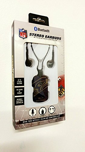 NFL Stereo Earbuds with Bluetooth Controller (Seahawks)