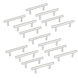 uxcell 4-inch Long Kitchen Cupboard Cabinet Drawer T Bar Pull Handles 15pcs
