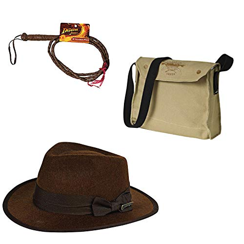 (Rubie's Child Indiana Jones Satchel, Whip, and Hat Set)
