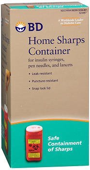 BD Home Sharps Container - Each, Pack of 2